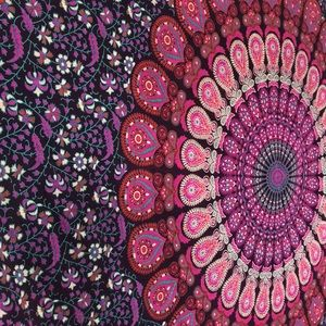 Purple Indian Mandala Tapestry, 80x52